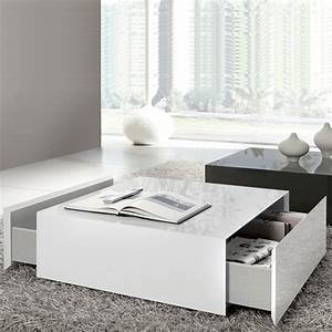 popular 225 list coffee table white With oversized white coffee table