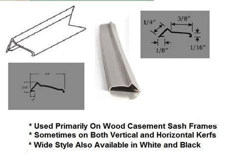 casement sash frame weather strip tan  lengths truth window hardware