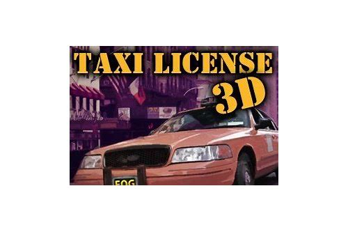 baixar 3d new york taxi licence game