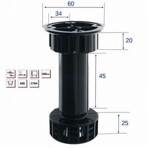 Pied De Meuble Reglable : pied de meuble abs h 100 mm r glable de 5mm 20mm lot ~ Dailycaller-alerts.com Idées de Décoration
