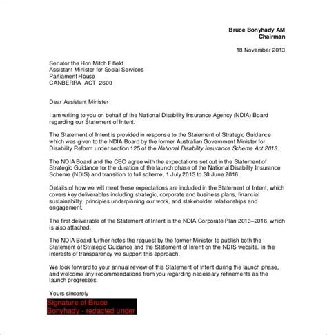 Letter Of Intent Template Letter Of Intention Format All About Letter Exles