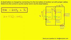 A Dead Battery Is Charged By Connecting It To The Live