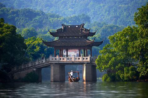 China, Bridge, River, Canoes Wallpapers HD / Desktop and ...