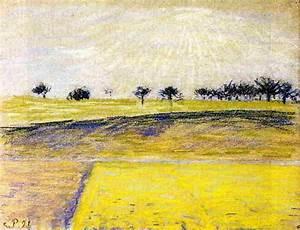 Eragny Art De Vivre : sunrise over le champs eragny pastel a de camille ~ Dailycaller-alerts.com Idées de Décoration