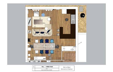amenagement cuisine salon salle a manger amenagement salon salle a manger 20m2 3 plan de cuisine
