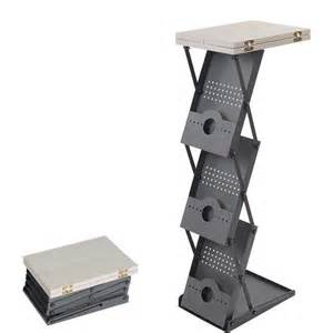 Folding Banner Display Stands by Portable Podium Amp Collapsible Rack Brochure Stand The