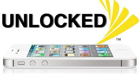 unlock iphone 4s sprint factory unlock sprint iphone 4s including ios 6 0 5 1 1