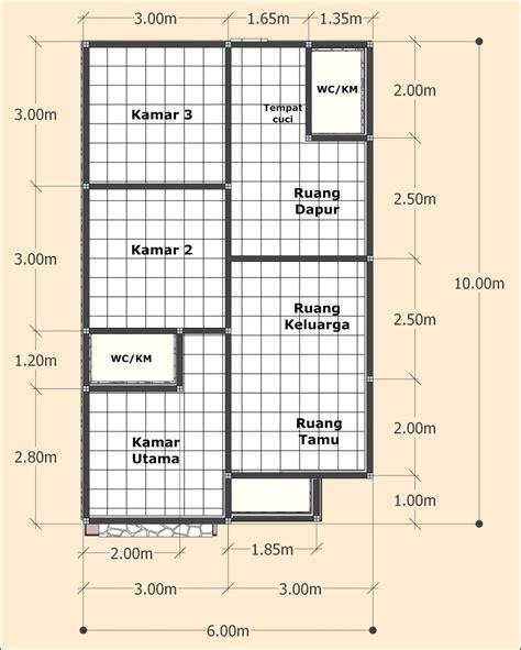 desain rumah minimalis sederhana  meter  kamar tidur