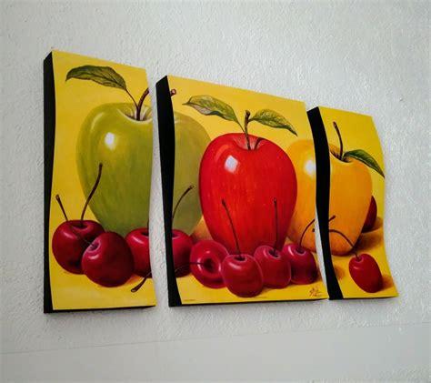 cuadros  cocina  comedor triptico ondulado