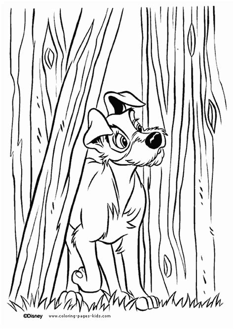 lady   tramp coloring pages coloring pages