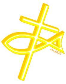 Christian Fish Cross Symbols Clip Art