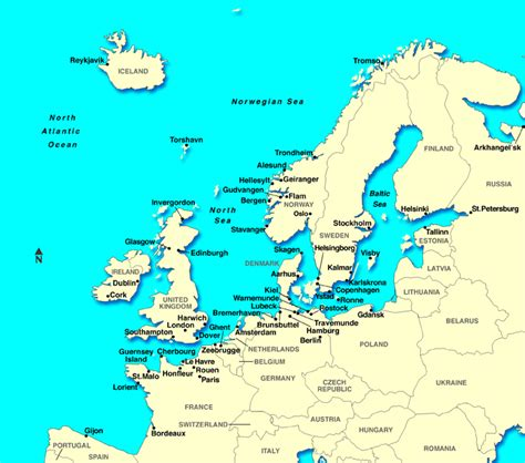 maps  europe countries northern europe region maps