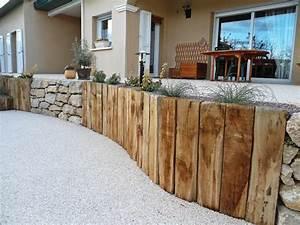 Terrasse Avec Muret : muret de sout nement terrasse contemporain terrasse et ~ Premium-room.com Idées de Décoration
