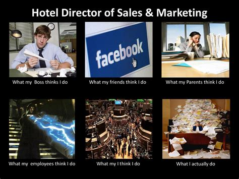 Hotel Memes - hotel director of sales marketing what people think i do what i really do know your meme