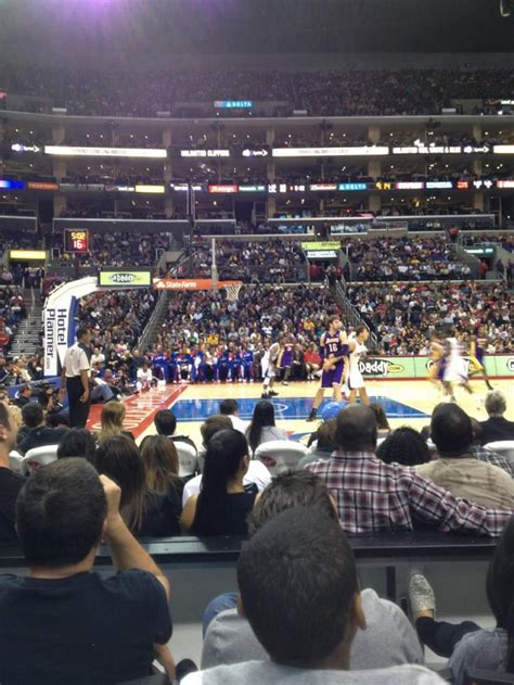 staples center section  row  home  los angeles