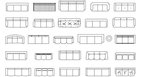 sofa 3 plazas dwg librer 237 as de bloques autocad sof 225 s en planta de 3 plazas