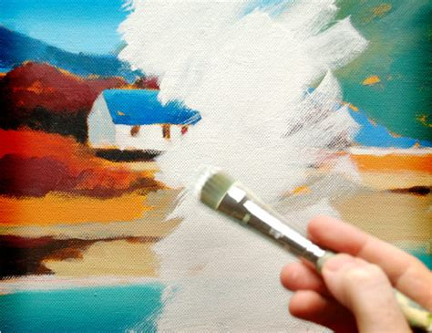 How To Paint Over An Acrylic Painting