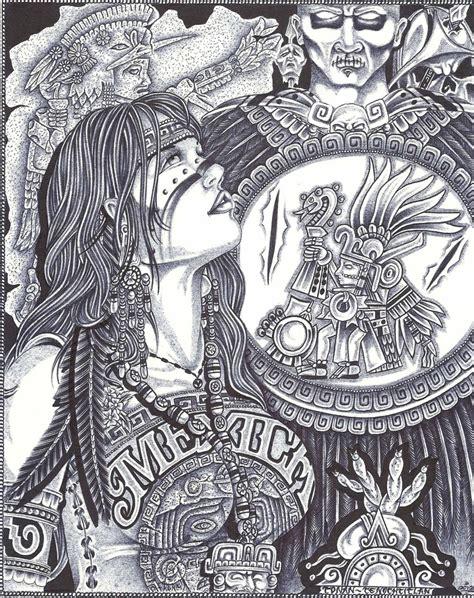 Aztec woman by Jimmy Tarango   Prison art, Chicano art ...