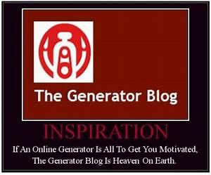 The Generator Blog Parody Motivator Generator