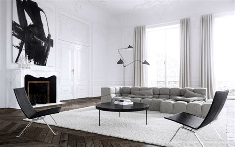 Scandinavian Parisian Apartments In White by Gorgeous Modern Interiors 40 Pics Decoholic