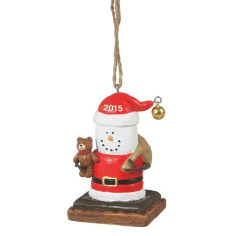s mores 2015 santa with teddy bear christmas ornament