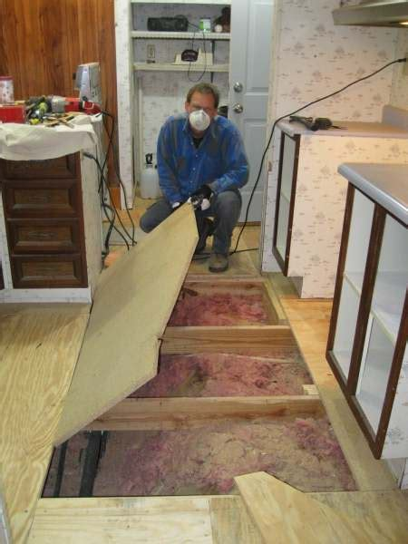 mobile flooring floor replace replacing step install subflooring diy remove need living covering