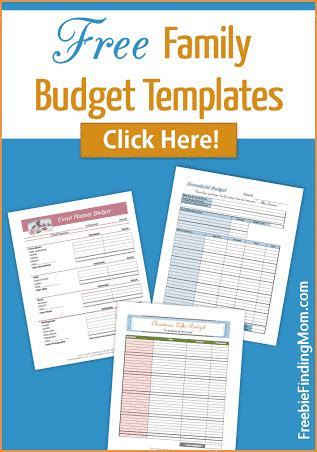 free printable personal budget template free family budget templates organize your family s budget