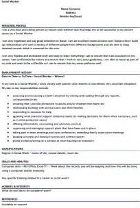 social worker curriculum vitae sle social worker cv exle icover org uk