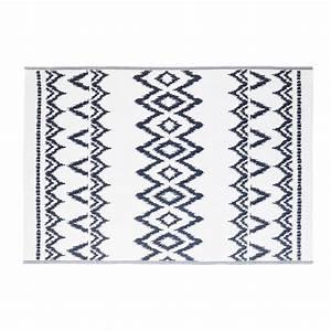 Tapis D Extérieur Maison Du Monde : tapis d 39 ext rieur blanc motifs graphiques bleus 180x270 ~ Melissatoandfro.com Idées de Décoration