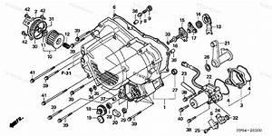 Honda Atv 2006 Oem Parts Diagram For Front Crankcase Cover  Trx500fe