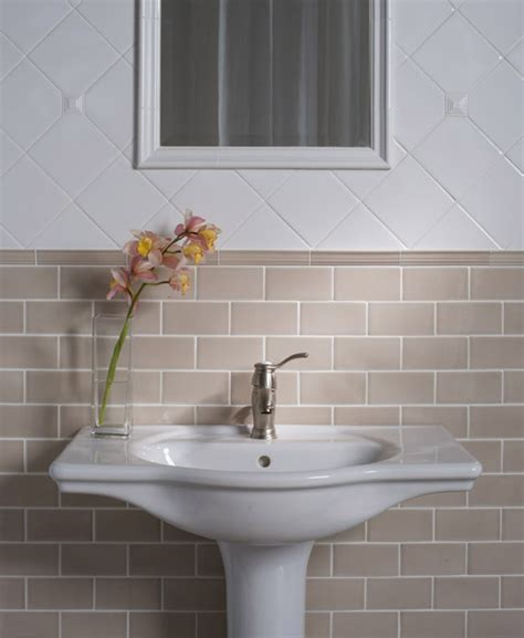Colored Subway Tile Bathroom by Colored Subway Tile Kitchen Transitional With None