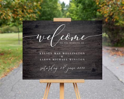 wedding  sign wood effect wedding sign etsy