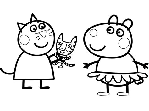 Free Printable Peppa Pig Coloring Pages at GetDrawings