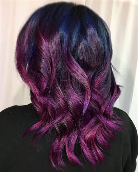great purple ombre trends   plum lilac