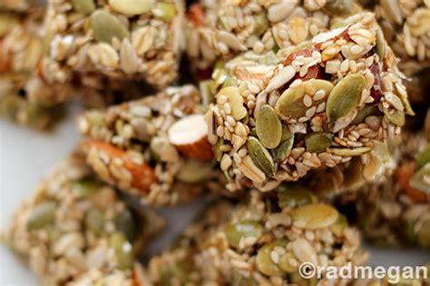 Healthy Seed Bar healthy treats seed nut energy bars radmegan