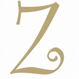 """13 5"""" Unfinished Curly Letter Z"""