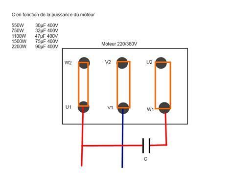 branchement moteur  en  mono