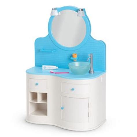 My American Girl Doll Blue Bathroom Vanity Set New Ebay