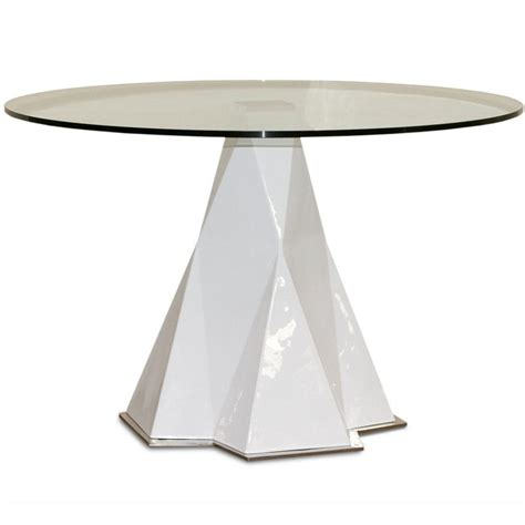 dining table pedestal base round glass top dining table with arctic pedestal base