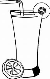 Coloring Drink Cocktail Straw Fruit Lemon Piece Sheets Printable Leaf Familyfriendlywork sketch template