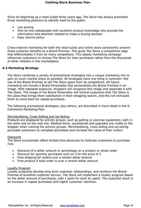 boutique business plan mpilo business plan template