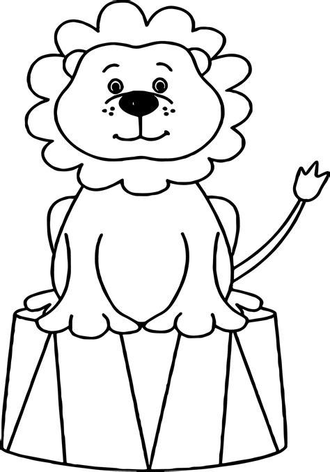 lion circus animals coloring page wecoloringpagecom