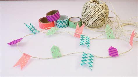wimpelkette basteln einfache girlande aus washi tape demo