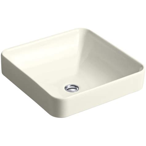Kohler Vox Sink Home Depot by Kohler Vox Square Vitreous China Vessel Sink In Biscuit