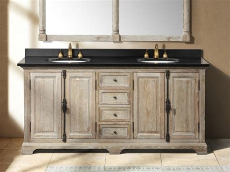 Bathroom Cabinets : Distressed Bathroom Vanities Wood