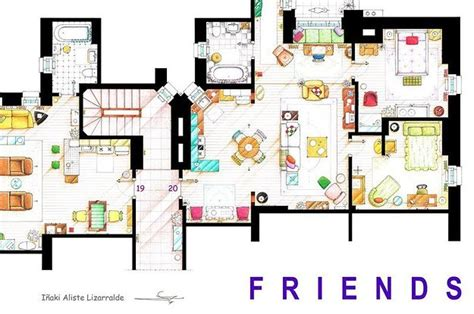 13 Incredibly Detailed Floor Plans Of The Most Famous Tv