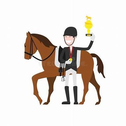 Jockey Pferd Av Het Foer Reiter Tecknad