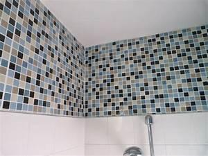 Carrelage adhésif salle de bain castorama :idée déco