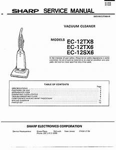 Sharp Upright Vacuum Cleaner Manual