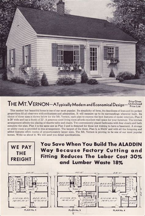 aladdin kit houses  mt vernon bungalow house